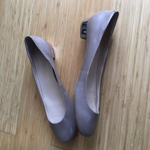 Mark fisher taupe silver heel flats